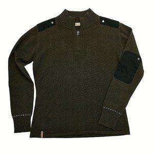 Lafuma Brown Elbow Patch Long Sleeve Sweater
